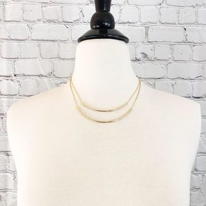 NWT Jules Smith Double Bar Necklace